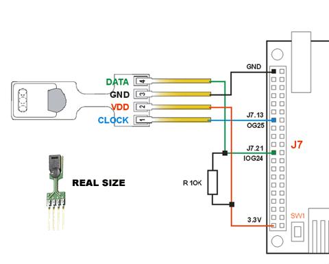 Interfacing the Sensirion humidity and temperature sensor