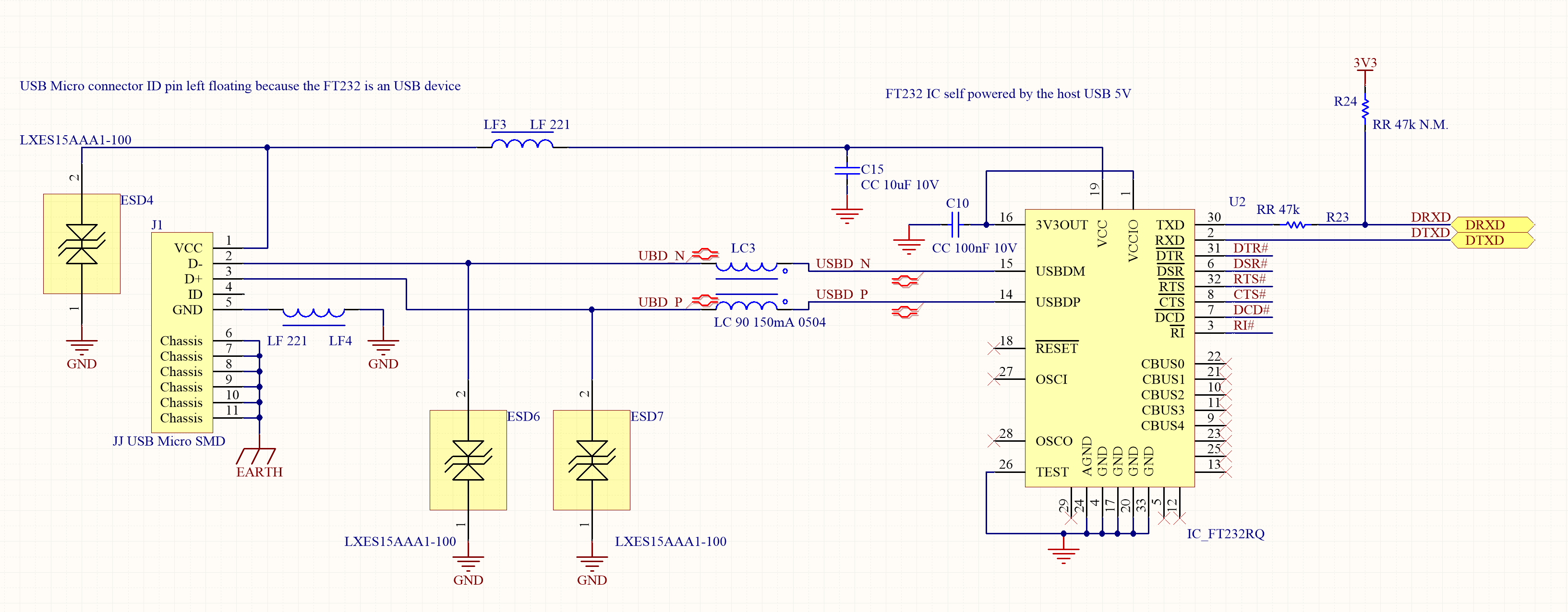How to design the serial circuitry